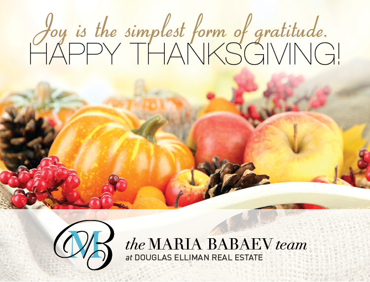 Happy Thanksgiving from the Maria Babaev Team