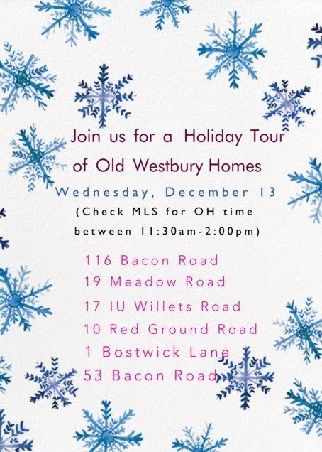 Join Douglas Elliman For An Old Westbury Open House Tour – December 13th