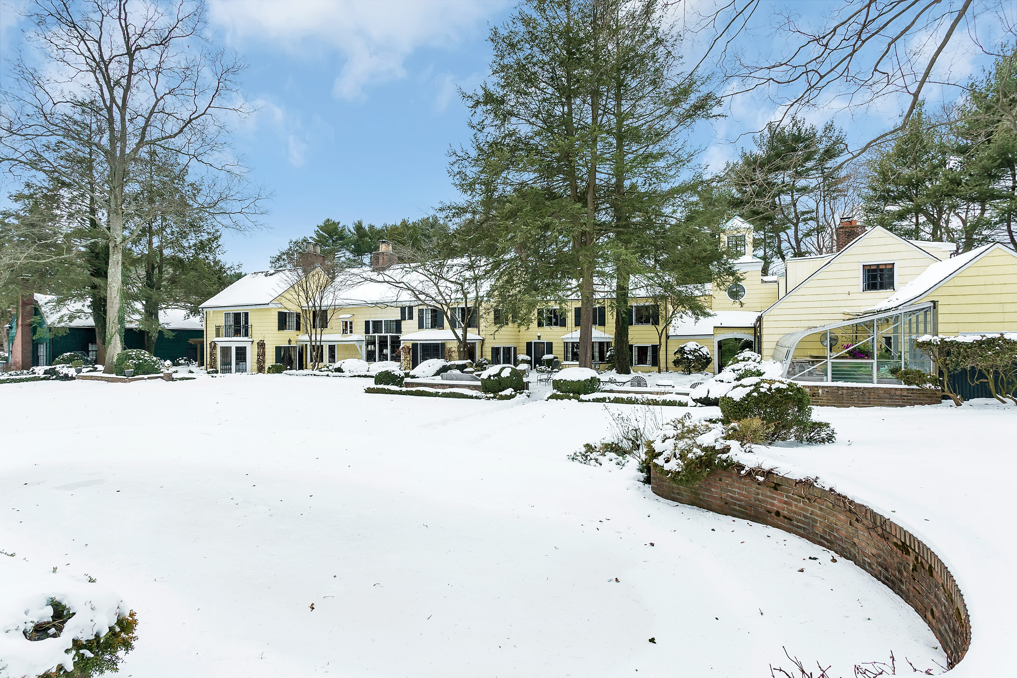 Just Listed!  Private Farmhouse Estate in Old Brookville