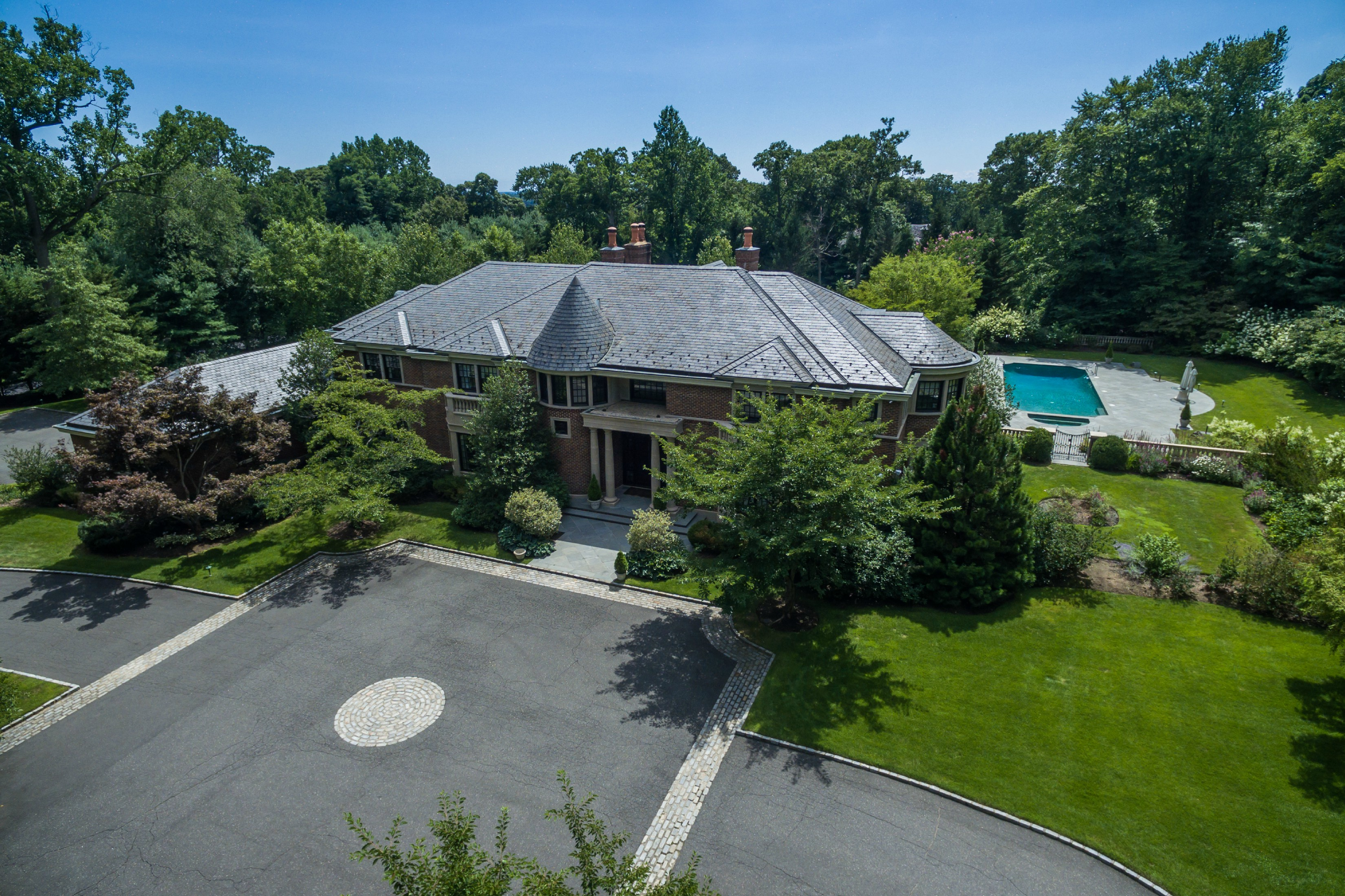Price Improved!  Magnificent Brick Manor in Round Hill at Old Westbury