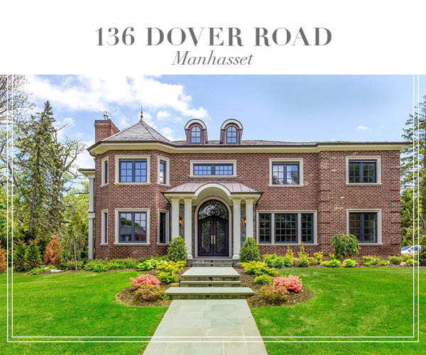 Just Listed!  Custom Built Brick Center Hall Colonial in Manhasset