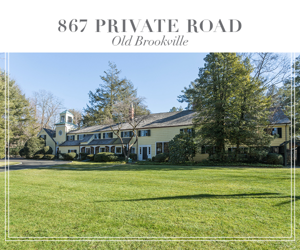 Price Improved!  Charming Sprawling Estate in the Heart of Old Brookville