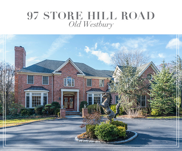 Just Sold!  Majestic brick Georgian Colonial in the heart of Old Westbury
