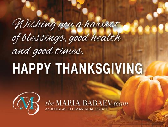 Happy Thanksgiving From The Maria Babaev Team!