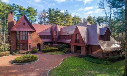 Major Price Improvement!  Magical Estate on Five Acres in Upper Brookville, Custom Built By Ike Kligerman Barkley