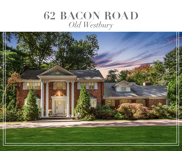 Just Listed!  Stately Brick Georgian Colonial on over 2 lush acres in Old Westbury