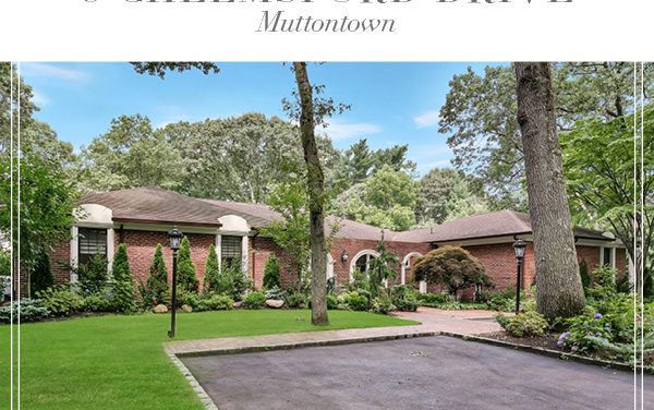 Just Listed!  Updated Mediterranean Style Ranch Ideally Situated on 2 Acres in Muttontown