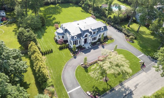 Under Contract!  All White Brick French Manor Home in the Village of Old Westbury