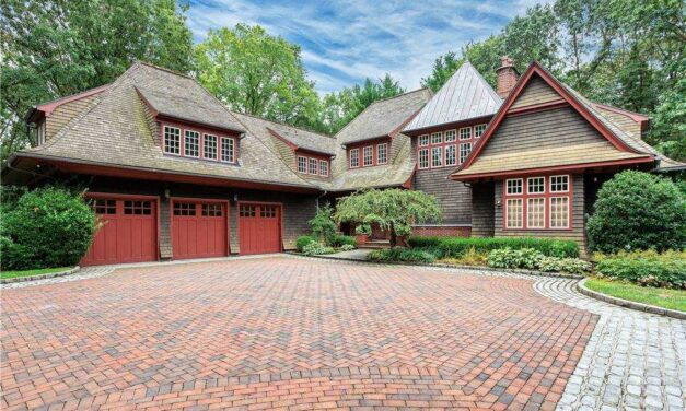 JUST LISTED! Exquisite and Quite Possibly, Rare, Cedar & Brick Estate In Muttontown