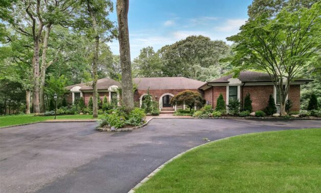 Under Contract! Mediterranean Style Ranch Located On Over Two Acres in Muttontown